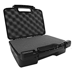 HARD CASE Drop-Protection External Desktop USB Hard Drive Carrying Case with Dense Customizable Internal Foam Padding and Power Adapter & Cable Storage - Fits All Seagate Expansion PC and for Mac / Backup Plus / models up to 8 TB