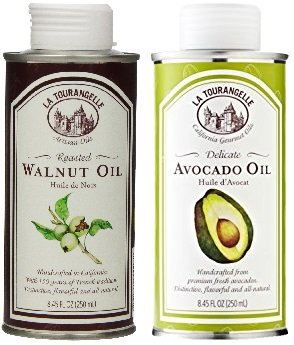 La Tourangelle Roasted Walnut Oil & Avocado Oil, (2x8.45 Oz. Can)