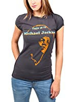 Amplified Camiseta Manga Corta Michael Jackson (Carbón)