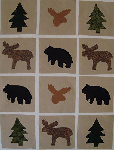 Applique Scrap Northwoods Animals and Trees Quilt Kit Blocks 6.5 Inch Squares