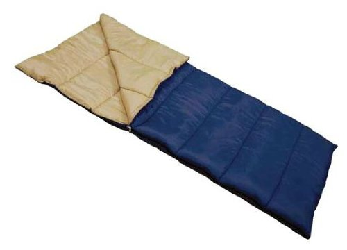Ozark Trails Adult Full Size Sleeping Bag Tan-Blue front-779180