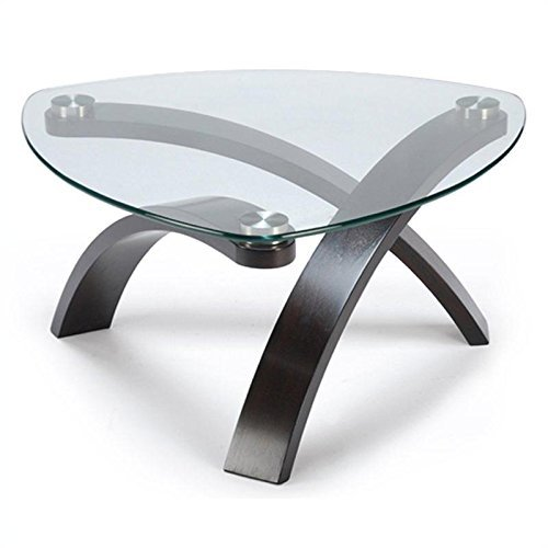 Pie Shaped Cocktail Table in Hazelnut - Allure Collection