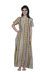 ChhipaPrints 100% Cotton Women MultiColour Gown(1012_MultiColour_38)
