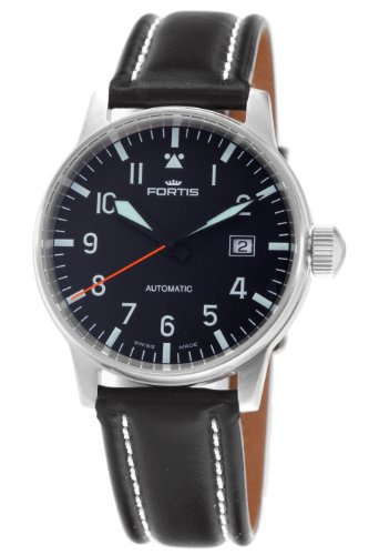 fortis-mens-5951141l-flieger-automatic-black-dial-watch