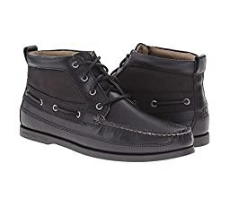 Sperry Top-Sider Men\'s A/O Boat Duck Cloth Chukka Boot, Black, 8.5 M US