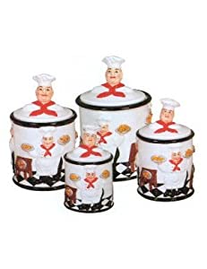 Http Www Amazon Com Kitchen Canister Chef Bistro Decor Dp B004kis46a