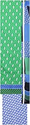 Payal Collection's Women's Cotton Unstitched Salwar (Green and Blue)