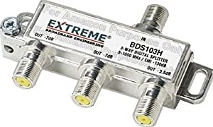 Extreme 3 Way Unbalanced HD Digital 1GHz High Performance Coax Cable Splitter - BDS103H
