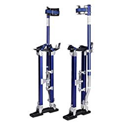 GHP Pair of Blue Aluminum Ergonomic Design Adjustable 24\