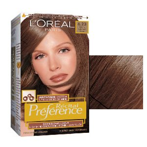 L'Oreal Recital Preference Permanent Hair Colourant 6.23 Tuscany Light Pearl Brown
