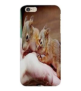 ColourCraft Cute Rats Design Back Case Cover for APPLE IPHONE 6 PLUS