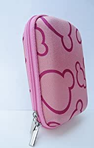 Kolay Pink Pattern Hard Shockproof Camera Case for Nikon Coolpix L29/ L27