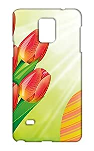 Samsung Galaxy Note 4 Floral Print Design Mobile Case Hard Back Cover for girls - Printed Designer Cover - SGN4FLRLB142