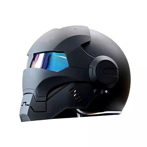 Masei 601 High Quality Atomic-Man Motorcycle DOT Helmet Classic Style Half helmet (Black-L)