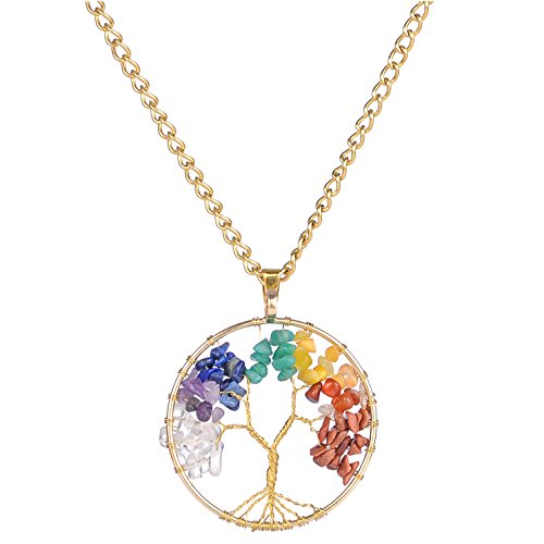areke-crystal-tree-of-life-pendant-chain-necklace-for-men-women-amethyst-chakras-gemstone-charms-col