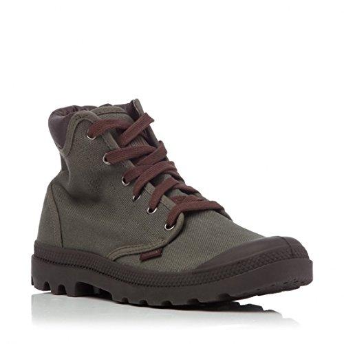 Palladium Pampa Hi Cuff-scarpe, colore: kaki, Verde (Kaki), 45