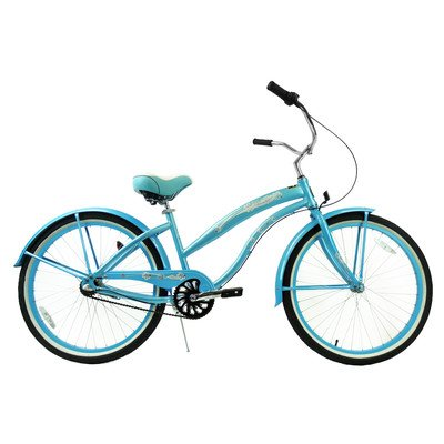 Women's 3-Speed Aluminum Beach Cruiser Frame Color: Baby Blue