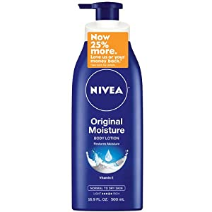 Nivea Original Moisture Body Lotion for Normal to Dry Skin, 16.9 Fluid Ounce