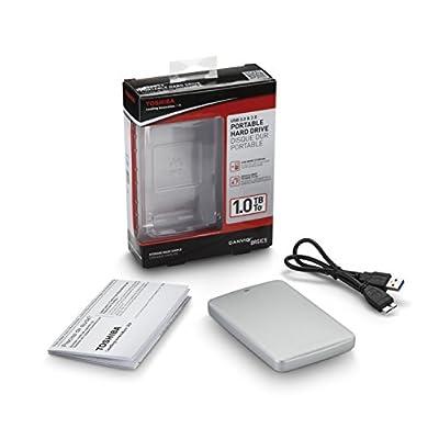 Toshiba Canvio Basics 500GB Portable Hard Drive- Silver (HDTB305XS3AA)