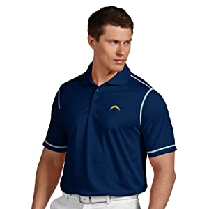 NFL San Diego Chargers Mens Icon Desert Dry Polo by Antigua
