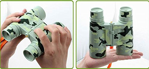 Kids Toy Binocular Telescope Outdoor Explore Educational Toys, Camouflage Green