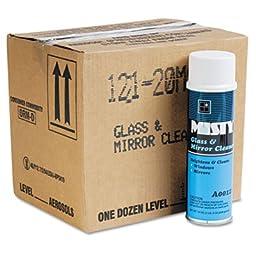 Zep. Professional A12120CT Glass & Mirror Cleaner w/Ammonia, 19oz Aerosol, 12/Carton