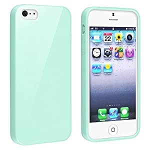 Eforcity Tpu Rubber Skin Case Compatible With Apple® Iphone® 5 Mint Green Jelly