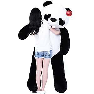 niuniu daddy 71 39 39 giant plush panda bear. Black Bedroom Furniture Sets. Home Design Ideas