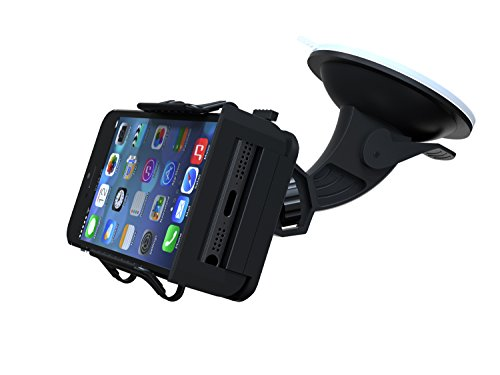 TaoTronics® Universal Windshield & Dashboard Car Mount Cradle Holder for iPhone 6 5S 5C 5 4S 4 3GS, Samsung Galaxy Note 3 Note 2 S4 S3 Mega, Nokia Lumia 1020 925 928 920, HTC Desire 500 DROID DNA One 8X 8S, Google Nexus 4, BlackBerry Q10 Q5 Z30 Z10, LG Op