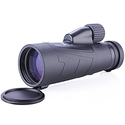 Yooeur 12X50 Monocular Telescope-Compact Short-range Spotting Scope-Waterproof Fog Dust proof- Single Hand Focus -Lifetime Warranty from Yooeur