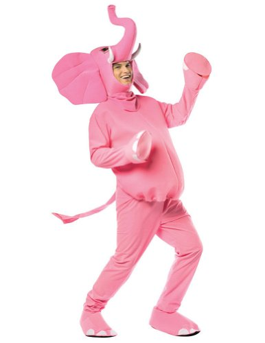Halloween Costumes Item - Pink Elephant Adult Costume