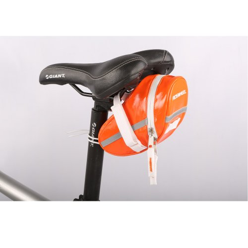 Roswheel Candy Color Bike Bicycle Seat Bag Cycling Tail Saddle Bags Pack (Orange) front-159390