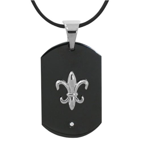 Fleur De Lis Pendant with Free Necklace