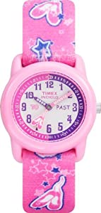 Timex Kids' T7B151 Time Teacher Pink Ballerina Stretch Band Watch