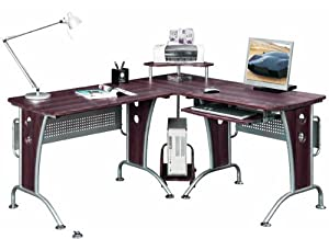 (BTM) Dark Walnut Large Corner Computer Desk       reviews