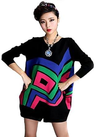 farleen en solde tunique pull gilet laine tricot style robe manche longue chauve souris femme. Black Bedroom Furniture Sets. Home Design Ideas