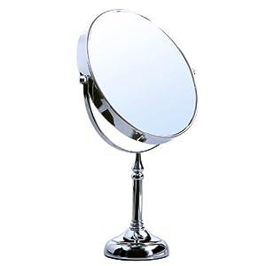 Songmics Standspiegel Kosmetikspiegel Schminkspiegel Rasierspiegel zweiseitig Normal+5 fach 8-inch BBM560