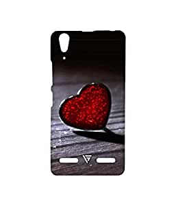 Vogueshell Heart Printed Symmetry PRO Series Hard Back Case for Lenovo A6000 Plus