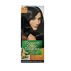 Garnier Color Naturals Cream, Natural Black 1, Mini 24ml+16g