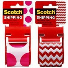 Scotch 141-prtd4 Decorative Shipping Packaging Tape With Dispenser (Decorative Packaging compare prices)