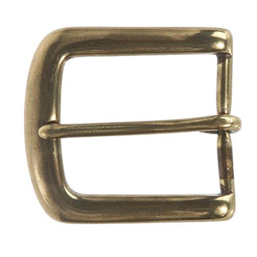 "1 3/8"" (35 mm) Single Prong Solid Brass Horseshoe Belt Buckle Color: Antique Brass"