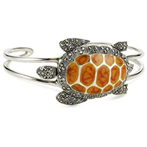 "Karen London ""Marcasite Collection"" Rock Turtle Cuff Bracelet"
