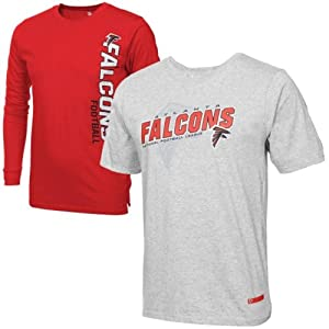 Atlanta Falcons Youth Option Combo T-Shirt 2-Pack - Ash Red by FansEdge