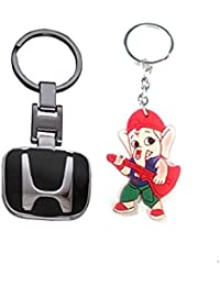 Parrk Black Honda Imported & Rubber Ganesh Key Chain