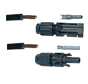 40 FEET UL Solar Panel Extension Cable Wire (40 ft.) with MC4 Connectors PV - 10 AWG - 600VDC from WindyNation