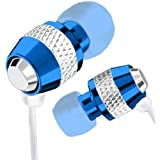 Kopfhörer für iPod / MP3-Player blau/Metall