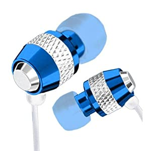 Blue Metal iPod MP3 Earphones