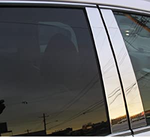 Dodge Ram 1500 2500 3500 Exterior Stainless Steel Chrome Pillar Posts Trim Set 2009 2010 2011 2012 from AMERICAN DASH TRIM, INC