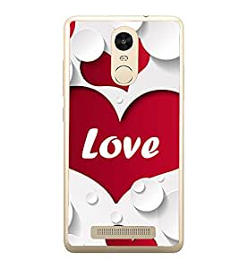 Heart Love 2D Hard Polycarbonate Designer Back Case Cover for Xiaomi Redmi Note 3 :: Xiaomi Redmi Note 3 Pro :: Xiaomi Redmi Note 3 MediaTek
