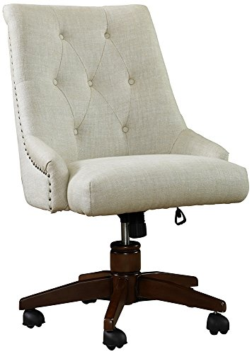 Bel Aire Linen Adjustable Height Swivel Desk Chair
